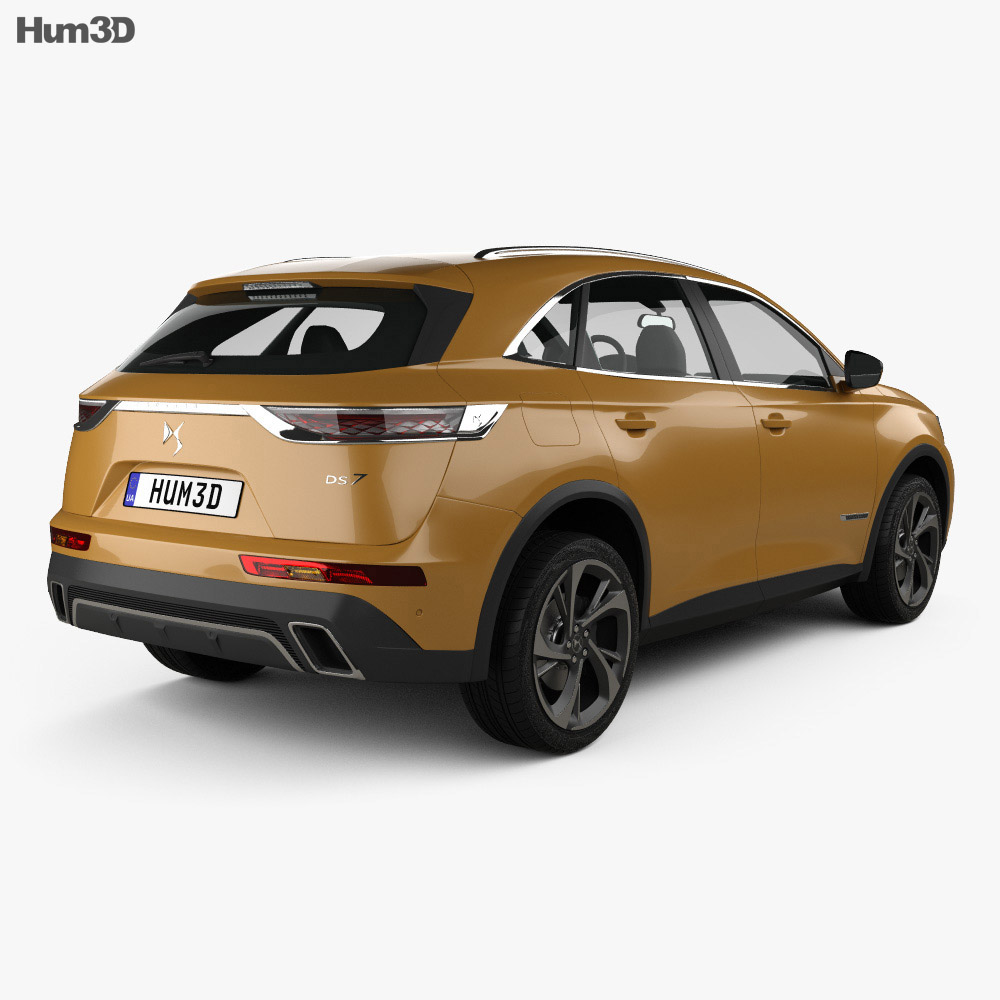 DS7 Crossback 2017 3d model
