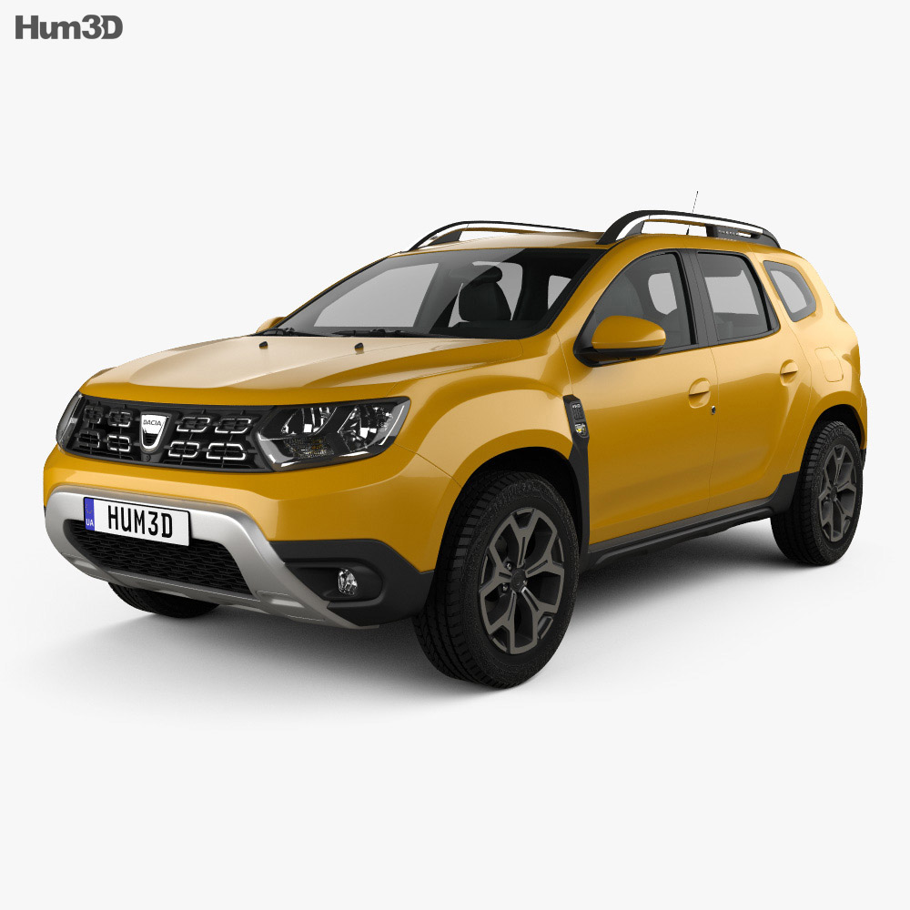 dacia duster 2018 3d model hum3d. Black Bedroom Furniture Sets. Home Design Ideas