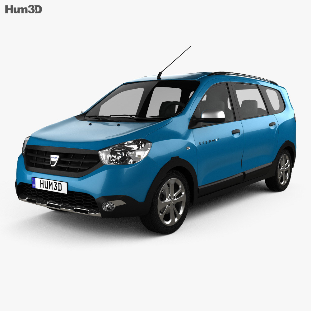 dacia lodgy stepway 2014 3d model vehicles on hum3d. Black Bedroom Furniture Sets. Home Design Ideas