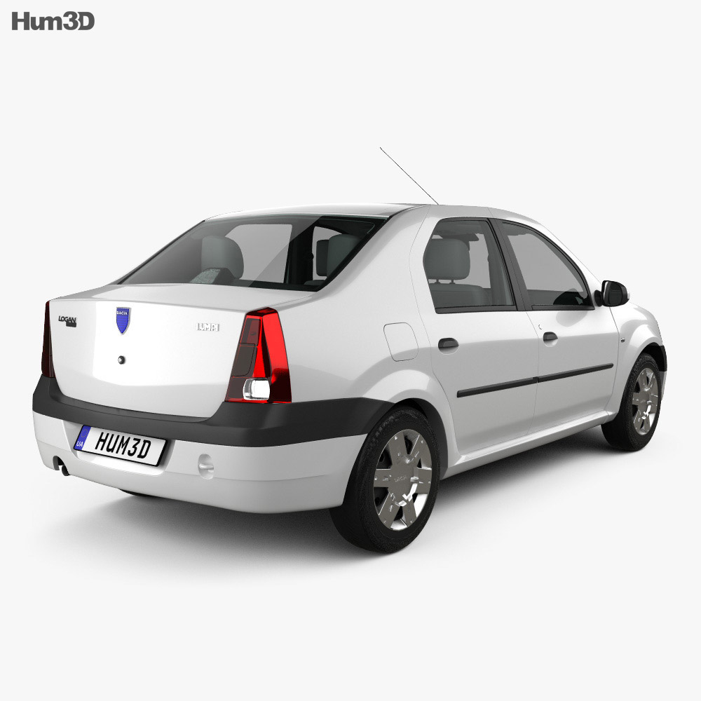 Dacia Logan with HQ interior 2004 3d model