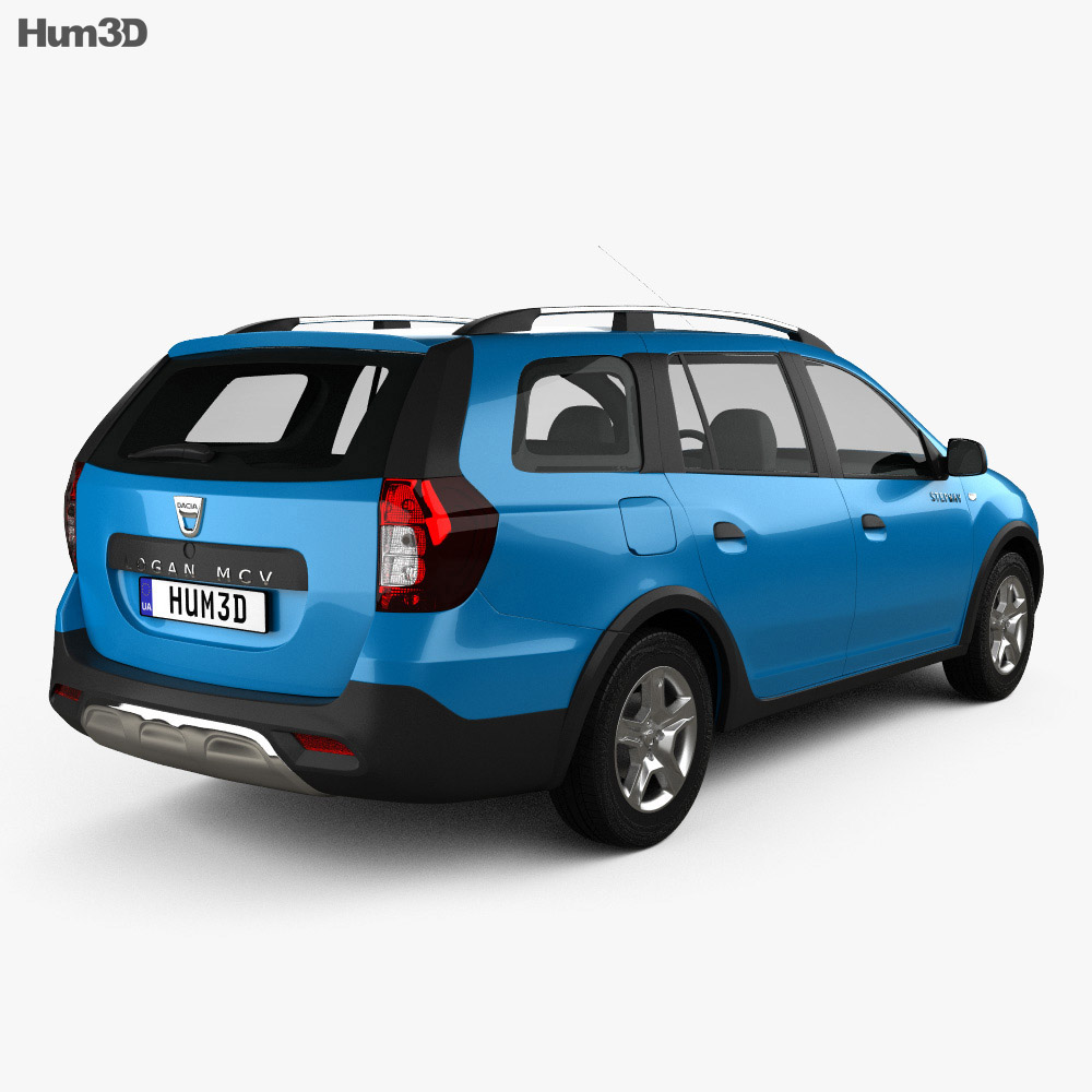 dacia logan mcv stepway 2017 3d model vehicles on hum3d. Black Bedroom Furniture Sets. Home Design Ideas
