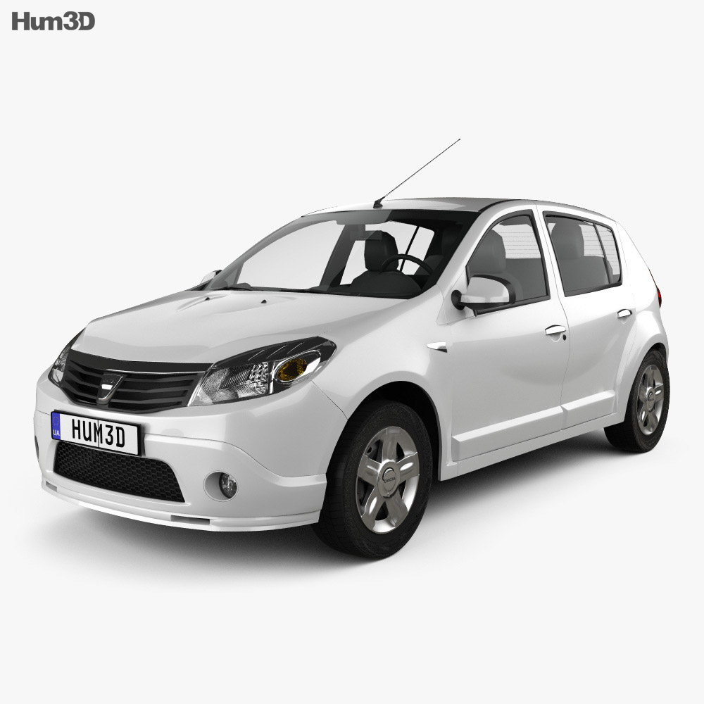 Dacia Sandero 2011 3d model