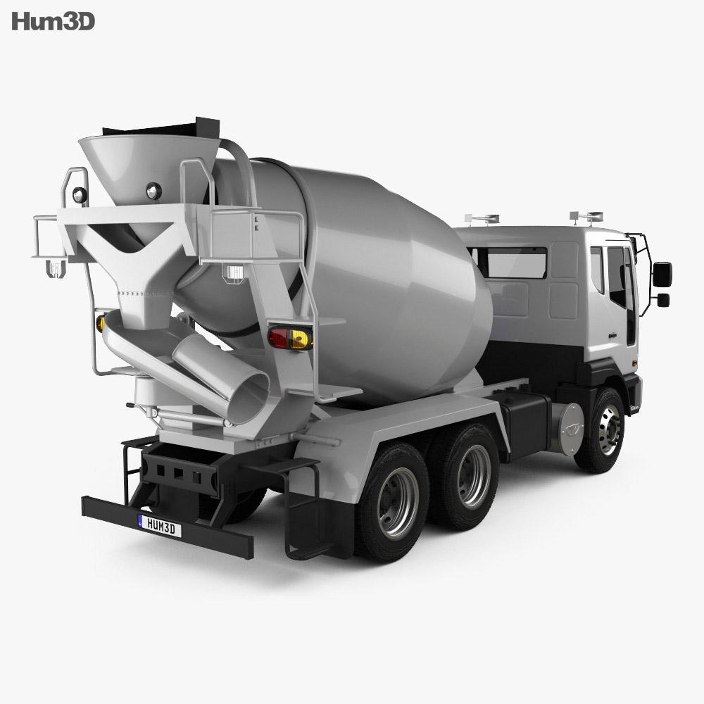 Daewoo Novus SE Mixer Truck 2012 3d model