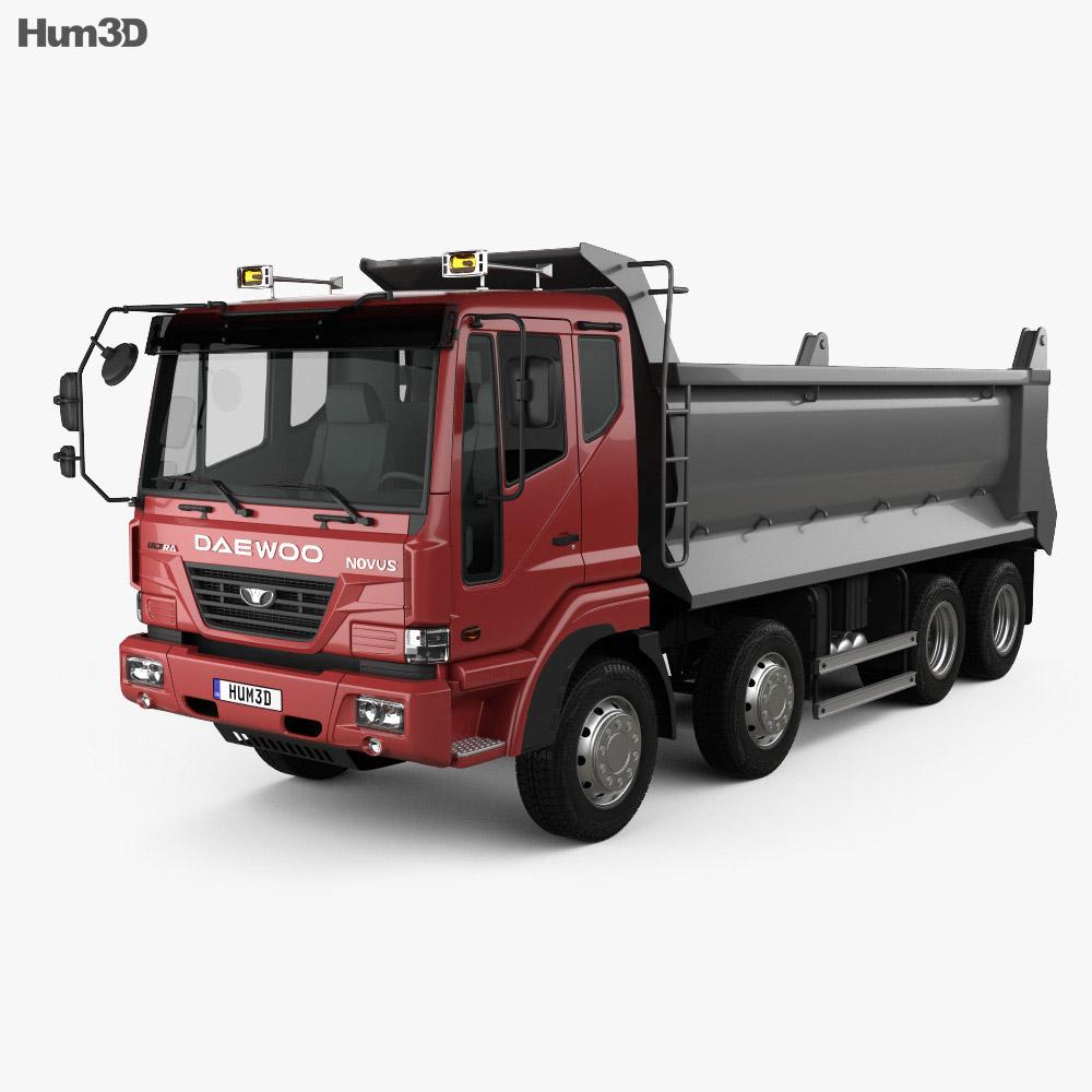Daewoo Super Novus Tipper Truck 4-axle 2008 3d model