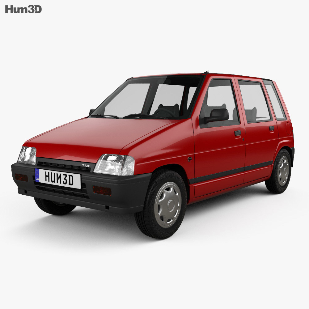 Daewoo Tico 1993 3d model