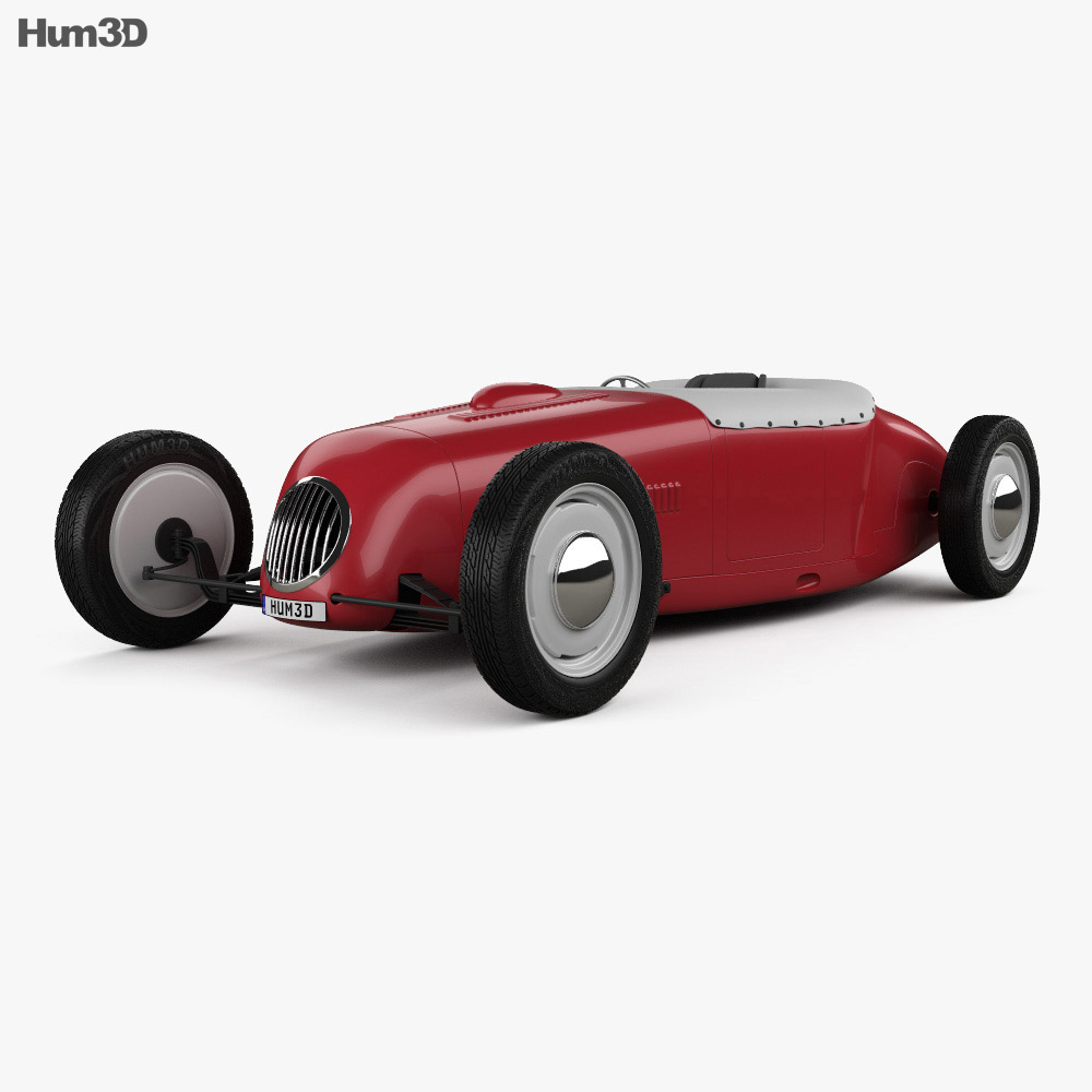 3D model of Dahm Brothers roadster 1927
