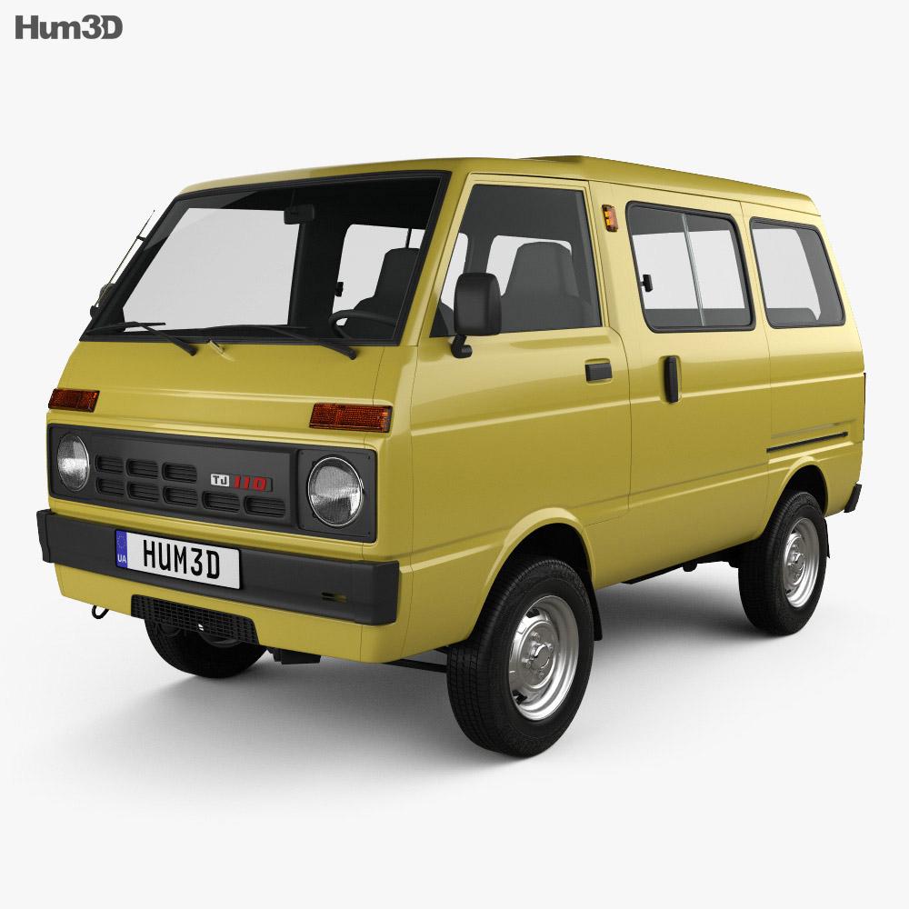Discount Car Parts >> Daihatsu Hijet Tianjin TJ 110 1981 3D model - Hum3D