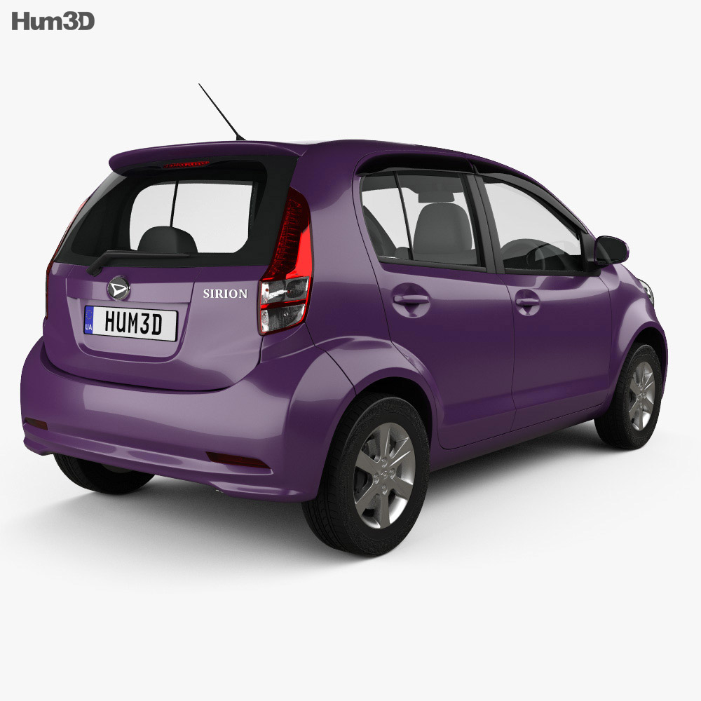 Daihatsu Sirion 2013 3d model