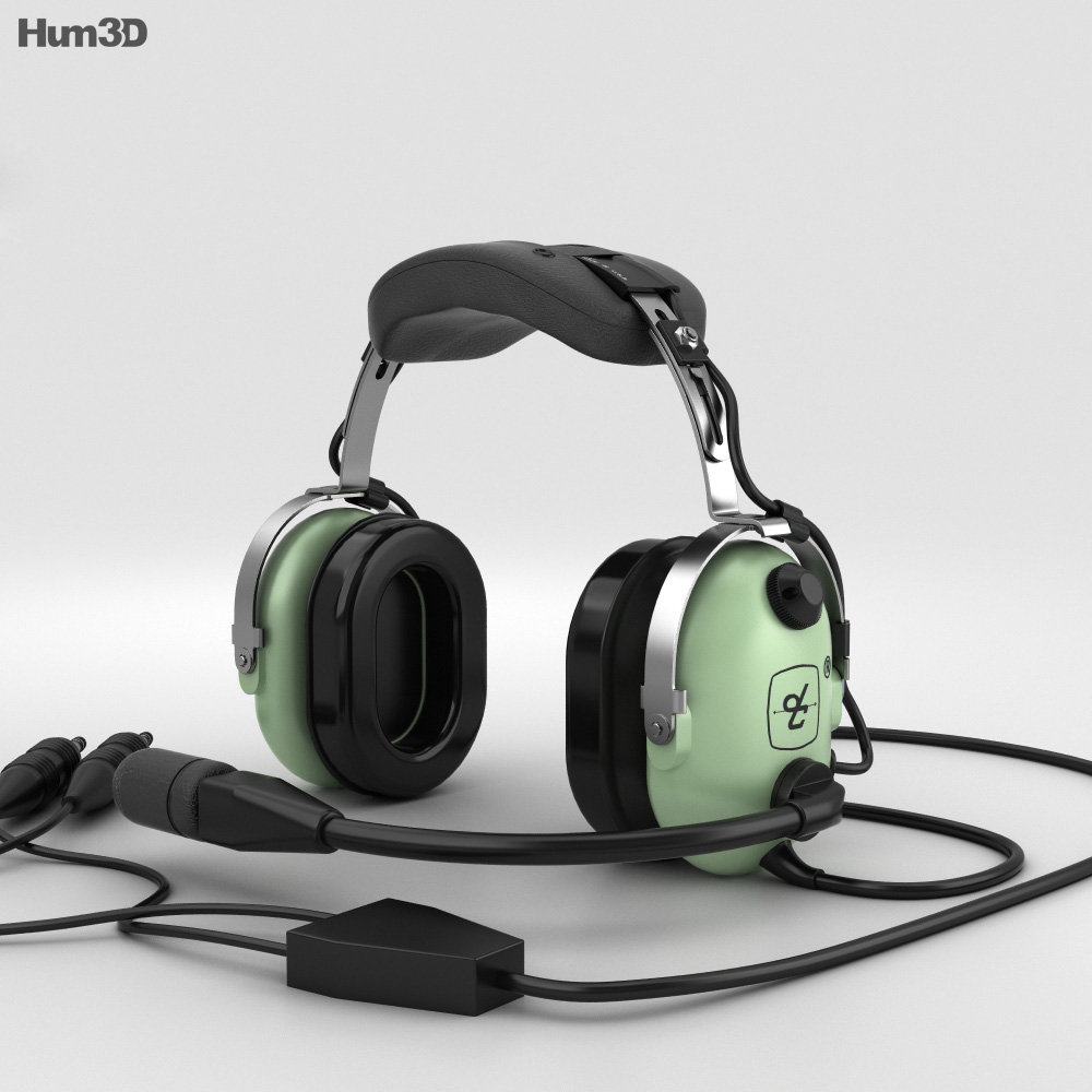 David Clark Standard Aviation Headsets 3d model
