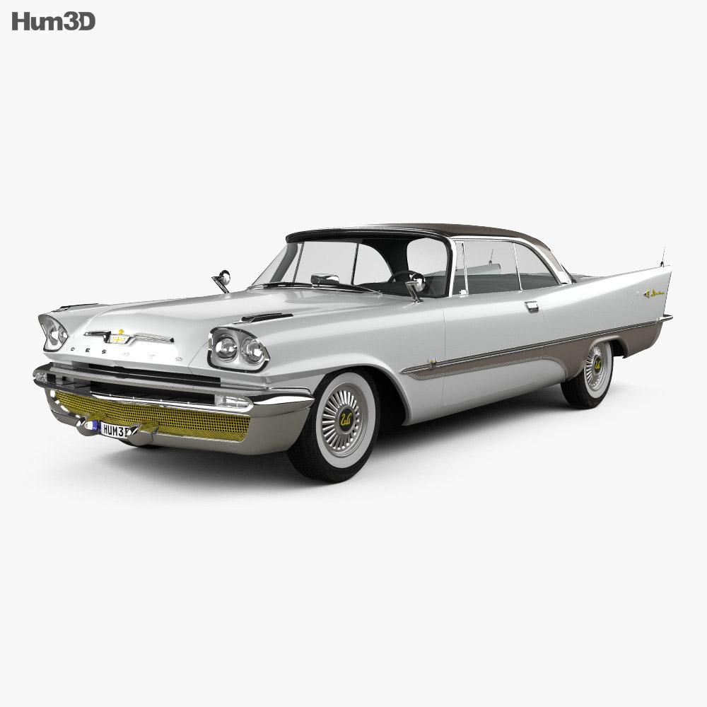 DeSoto Adventurer hardtop Coupe 1957 3d model