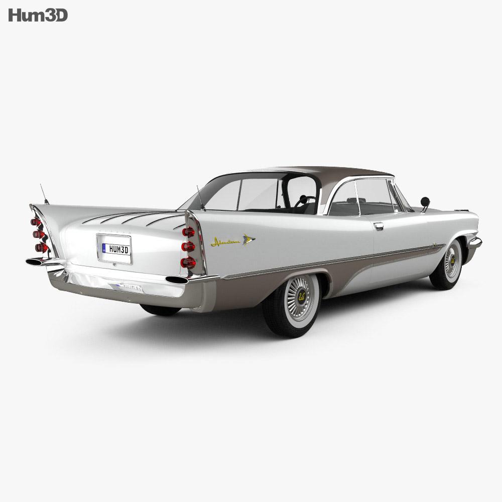 DeSoto Adventurer hardtop Coupe 1957 3d model back view