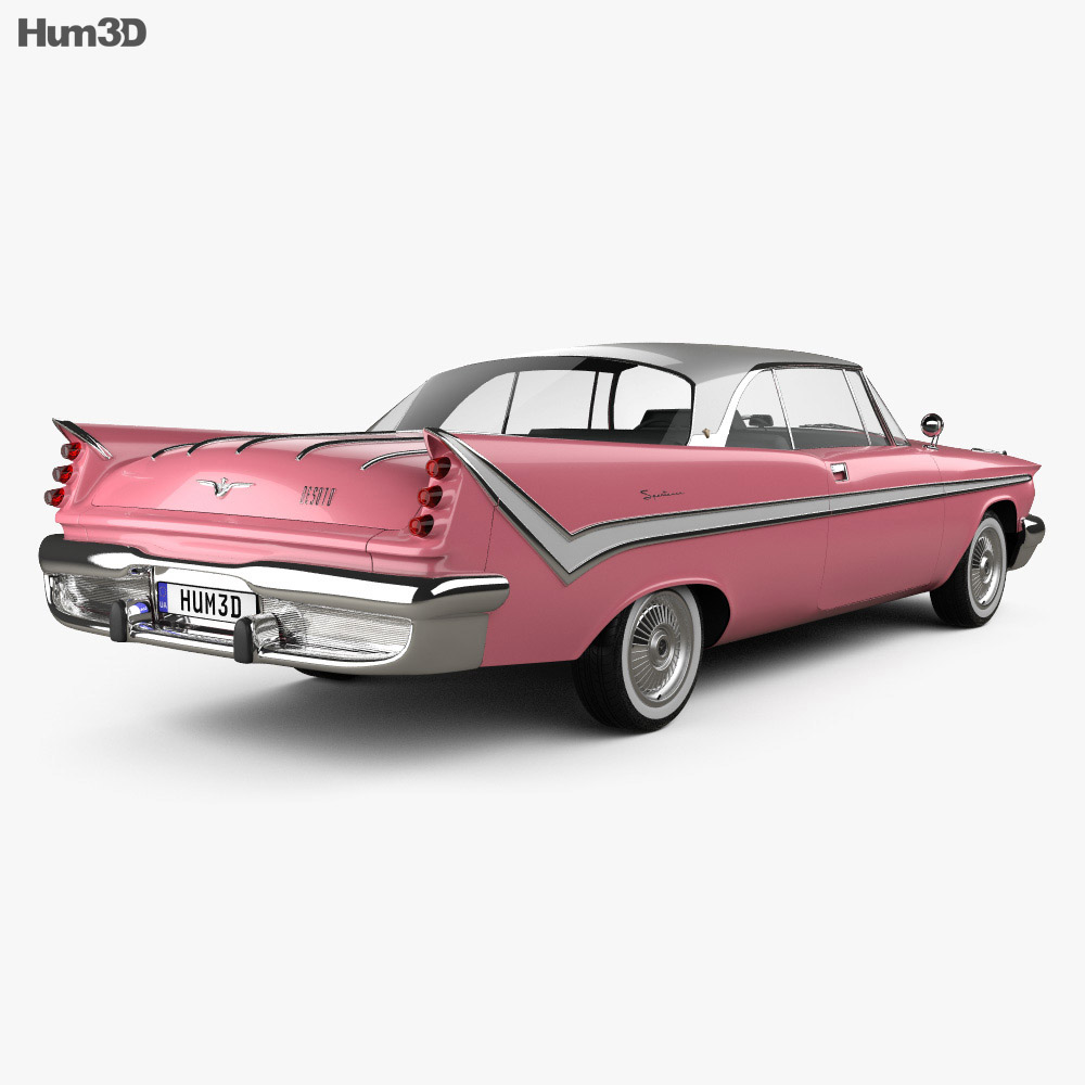 DeSoto Firesweep Sportsman Hardtop Coupe 1959 3d model