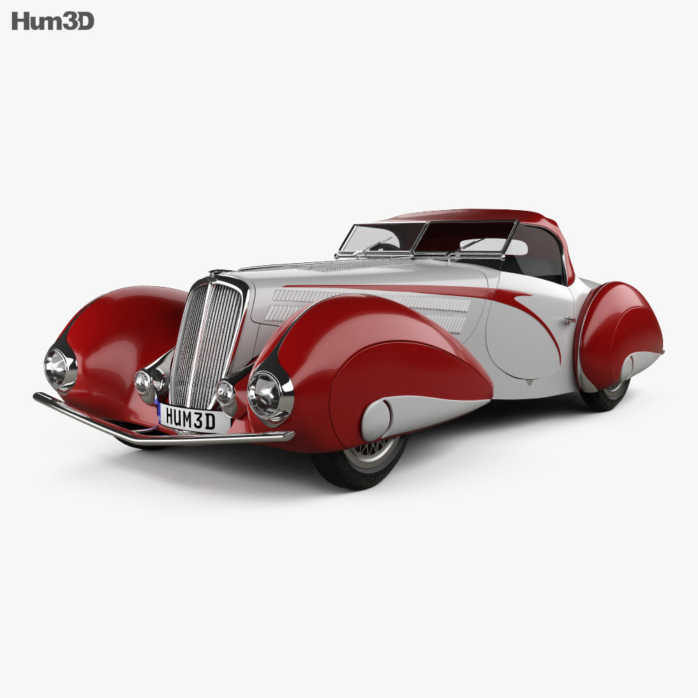 Delahaye 135M Figoni and Falaschi Convertible 1937 3d model