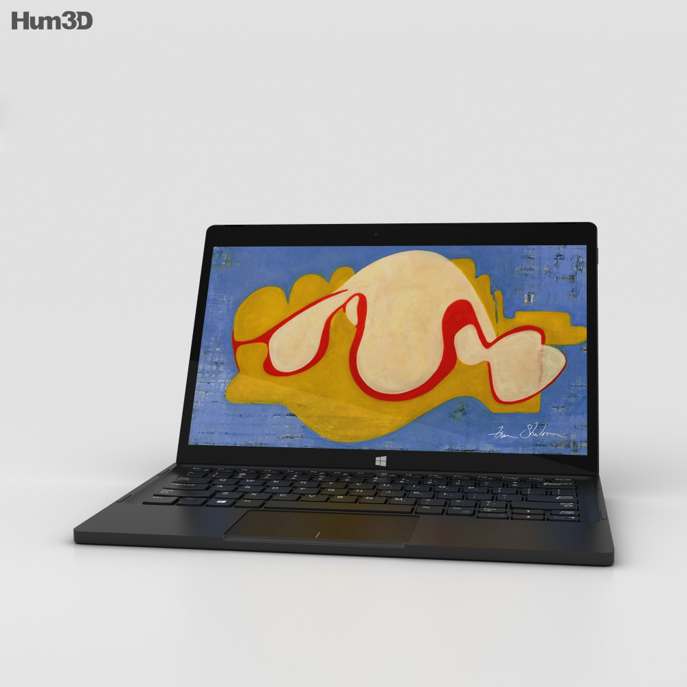 Dell XPS 12 2-in-1 Laptop 3d model