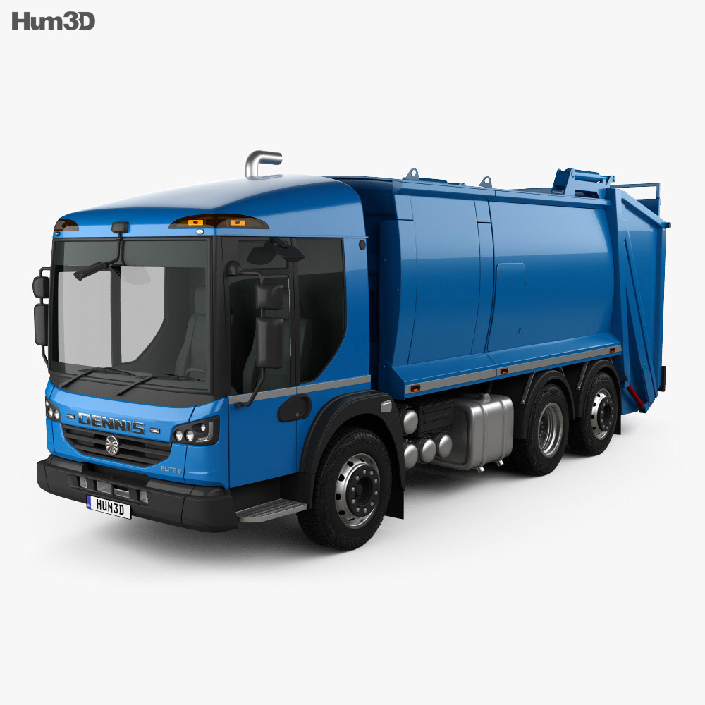 Dennis Eagle Elite 6 Olympus Refuse Truck 2013 3d model