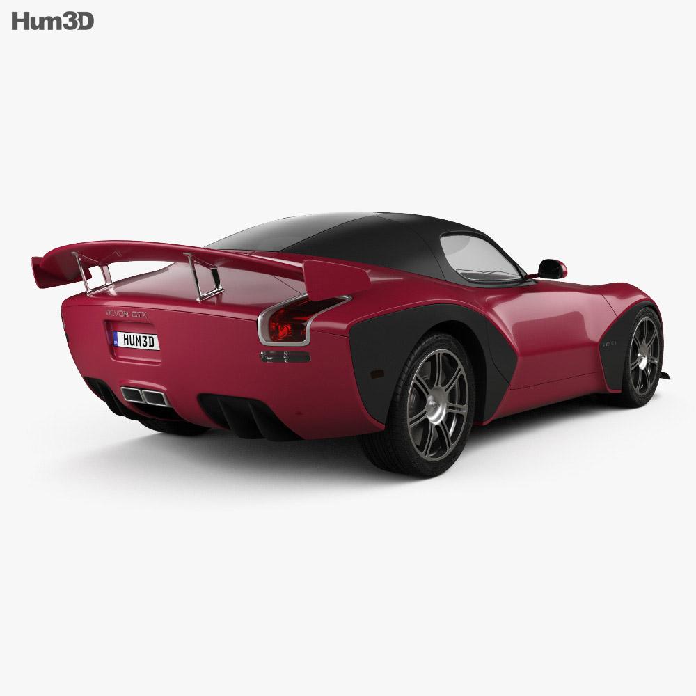 Devon GTX 2010 3d model back view