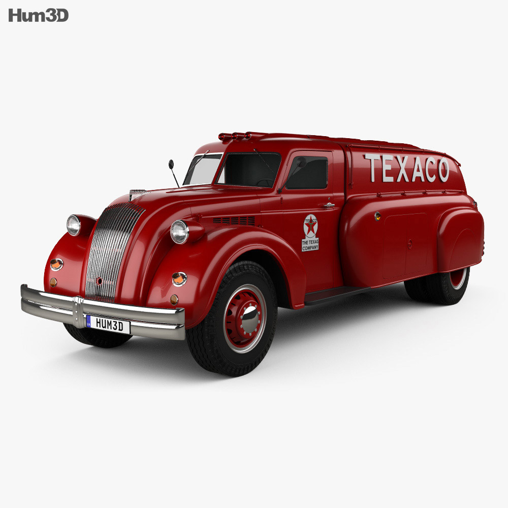 Dodge Airflow Tank Truck 1938 3d model