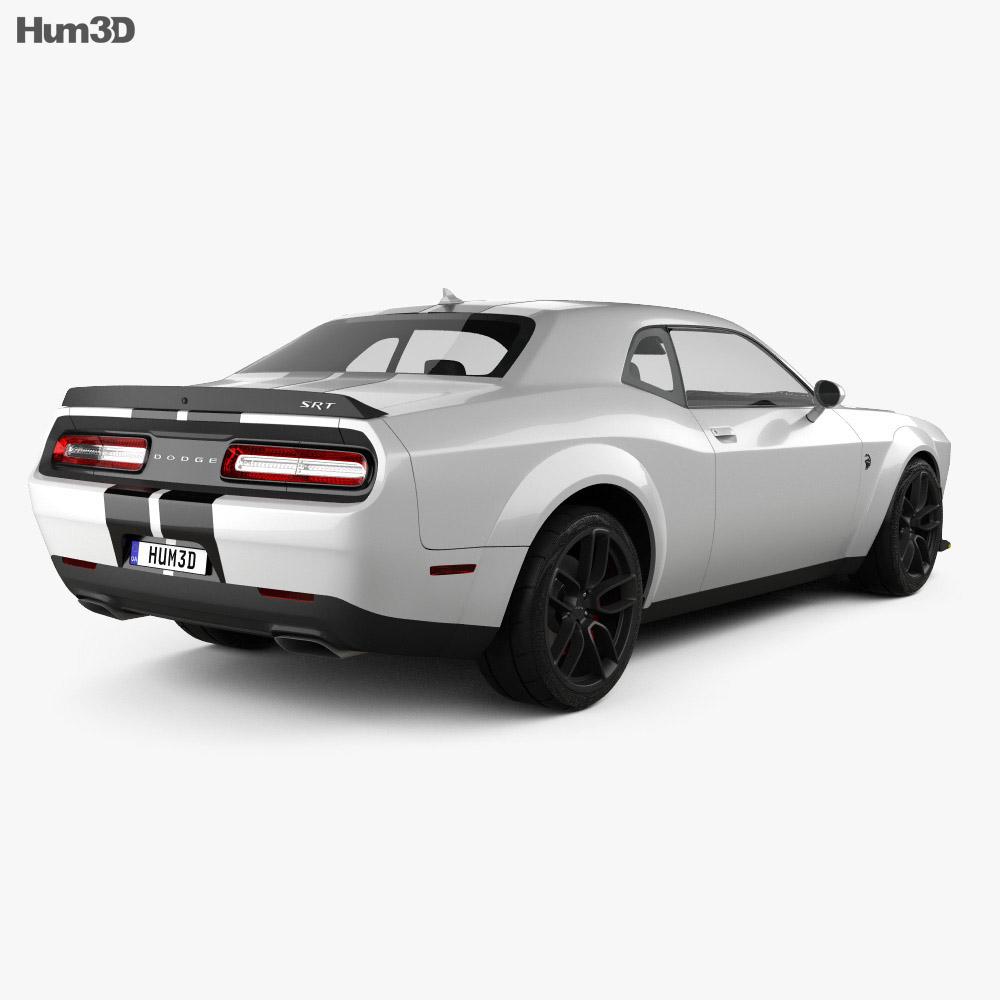 Dodge Challenger SRT Hellcat Wide Body 2018 3d model