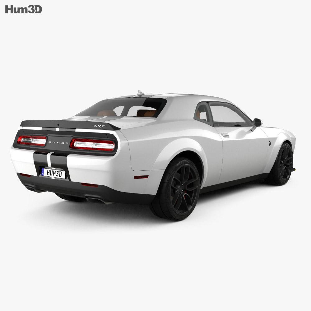 Dodge Challenger SRT Hellcat WideBody with HQ interior 2018 3d model