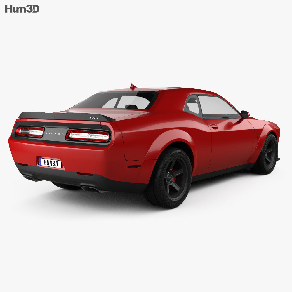 Dodge Challenger SRT Demon 2018 3d model