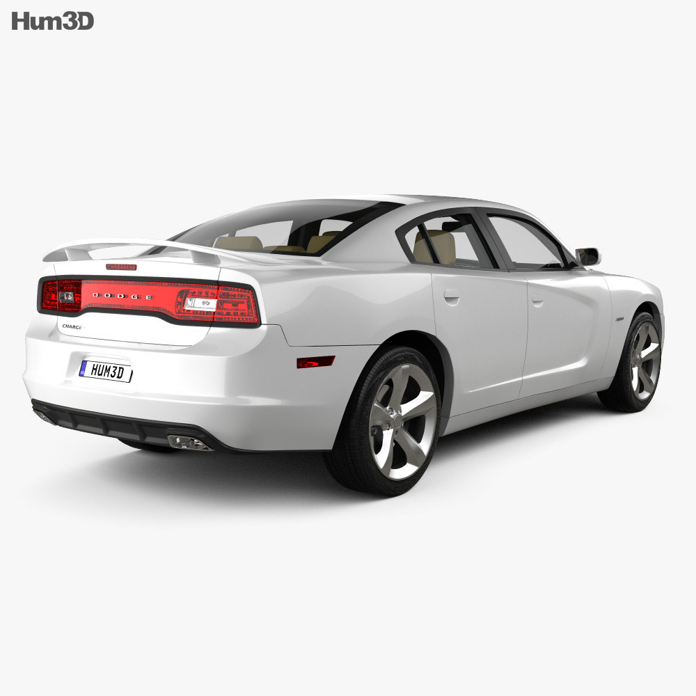 Dodge Charger (LX) 2011 with HQ Interior 3d model