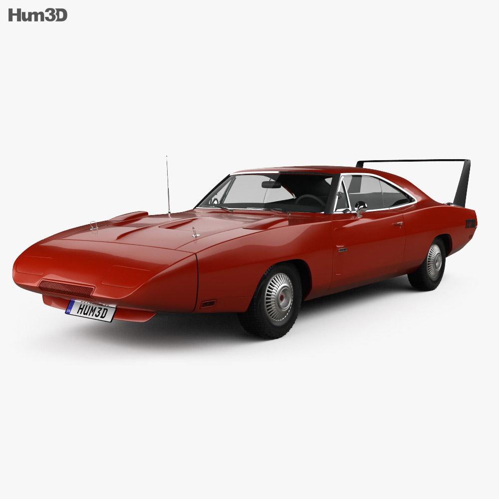 3D model of Dodge Charger Daytona Hemi 1969
