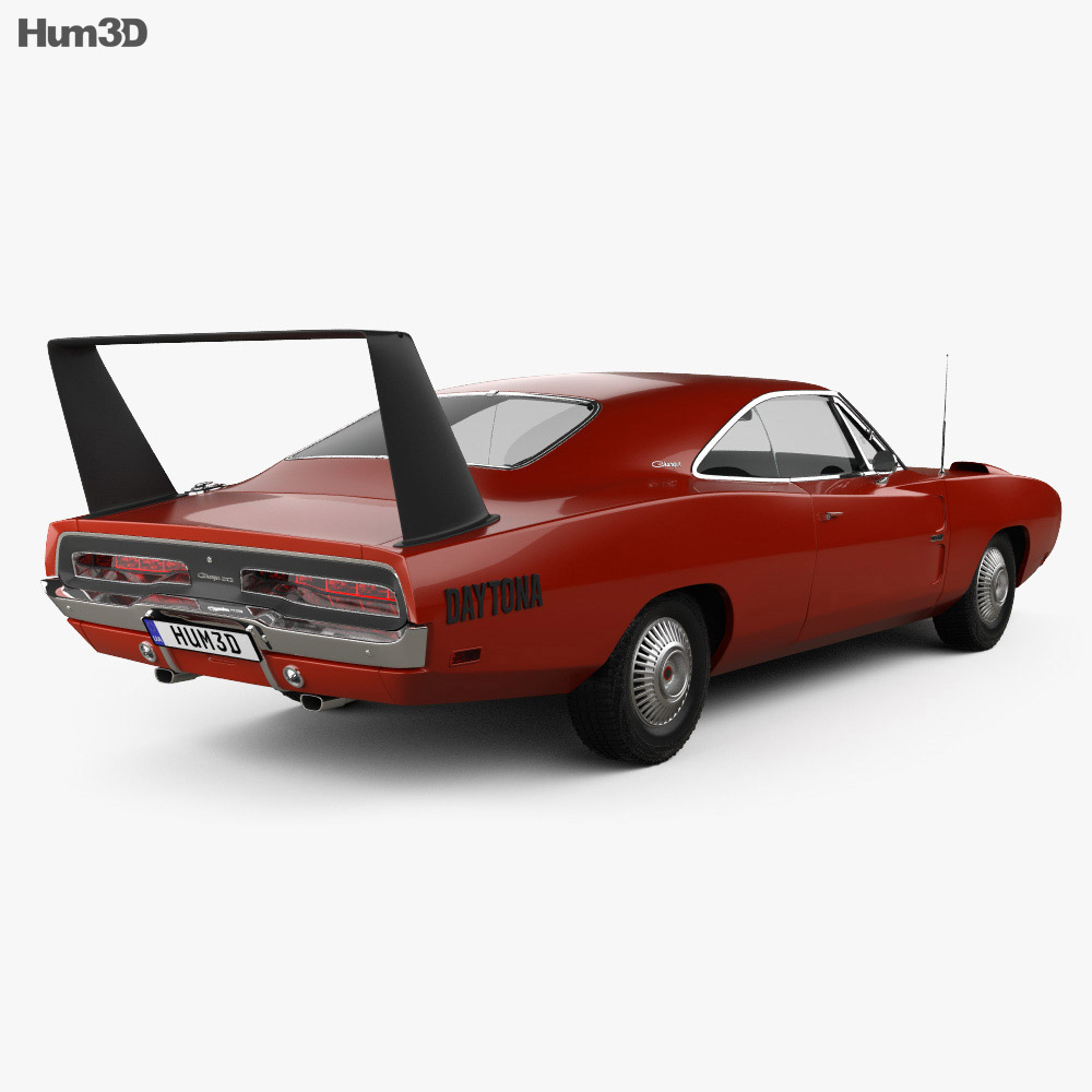 Dodge Charger Daytona Hemi 1969 3d model