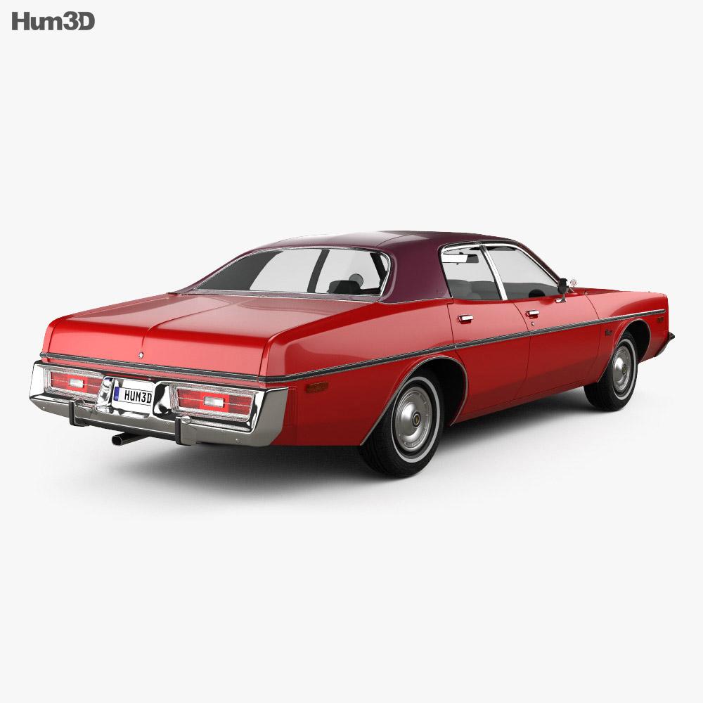 Dodge Coronet sedan 1975 3d model