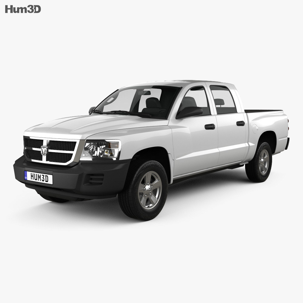 Dodge Dakota Crew Cab 2007 3d model