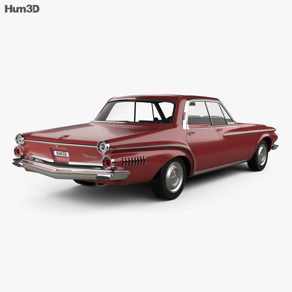 Dodge Dart 440 hardtop sedan 1962 3d model