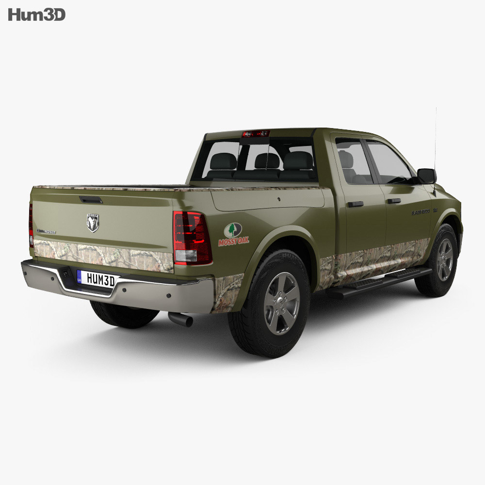 dodge ram 1500 mossy oak edition 2014 3d model humster3d. Black Bedroom Furniture Sets. Home Design Ideas
