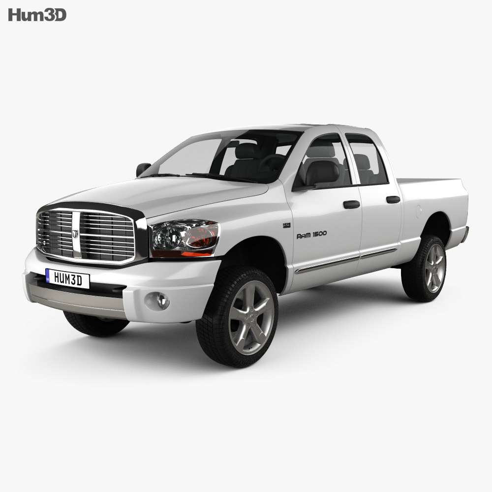 Dodge Ram 1500 Quad Cab Laramie 140-inch Box 2008 3d model