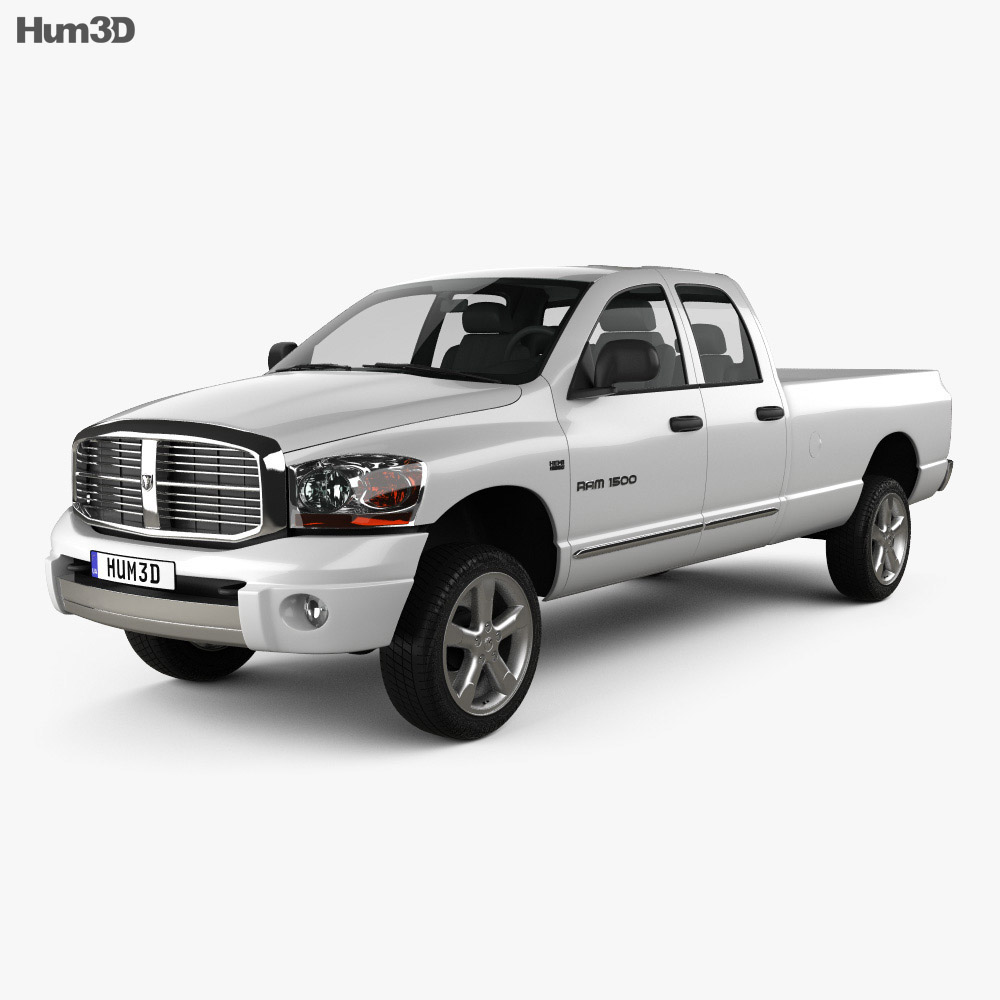 Dodge Ram 1500 Quad Cab Laramie 160-inch Box 2008 3d model