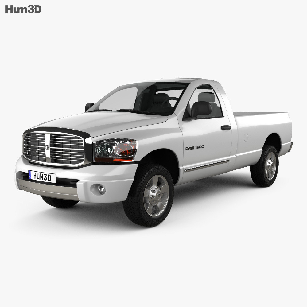 Dodge Ram 1500 Regular Cab Laramie 140-inch Box 2008 3d model