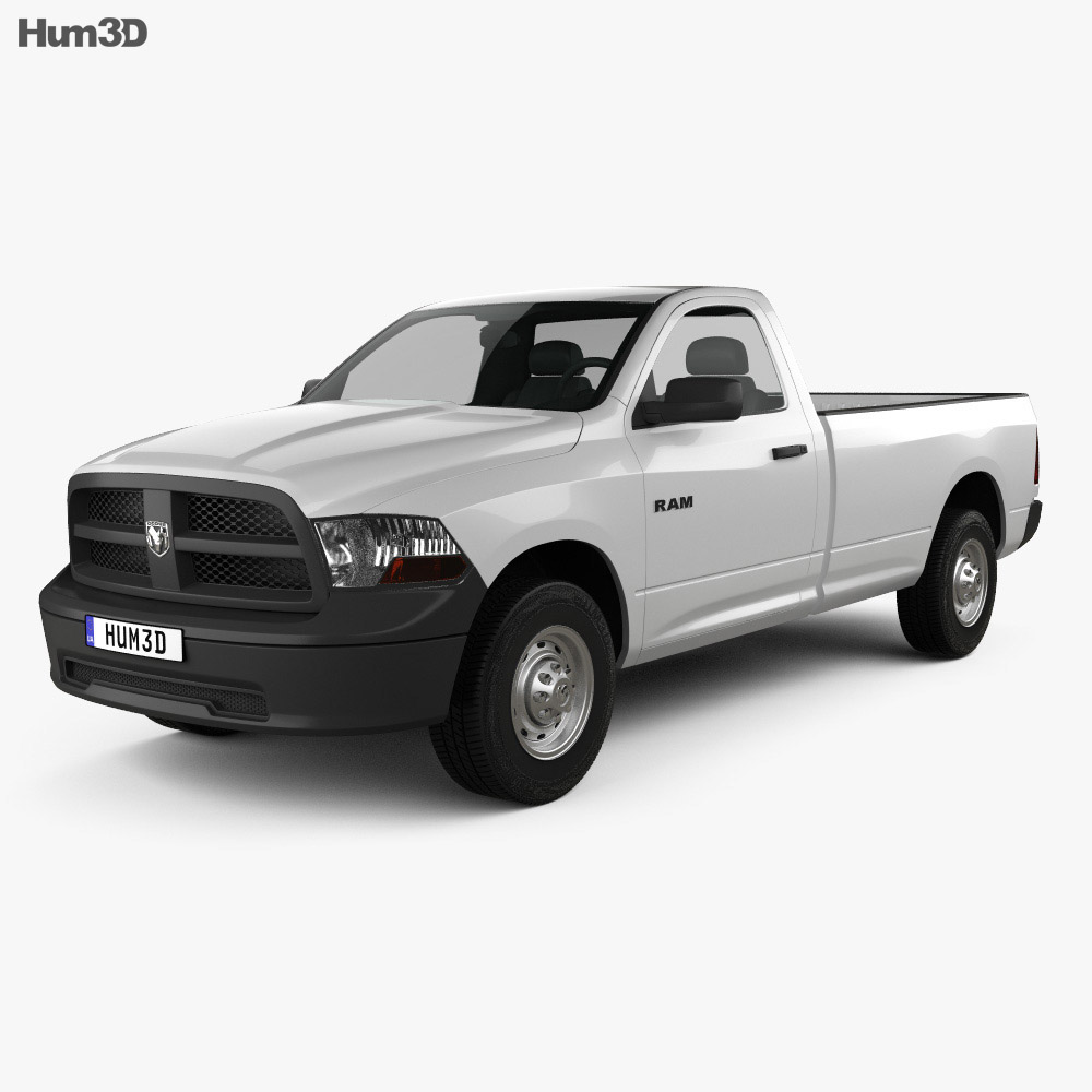 Dodge Ram 1500 Regular Cab ST 8-foot Box 2012 3d model