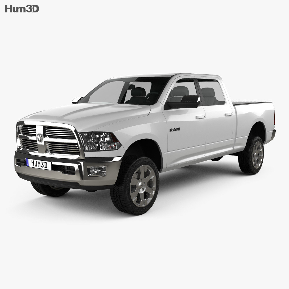 Dodge Ram 2500 Crew Cab Big Horn 6-foot 4-inch Box 2012 3d model