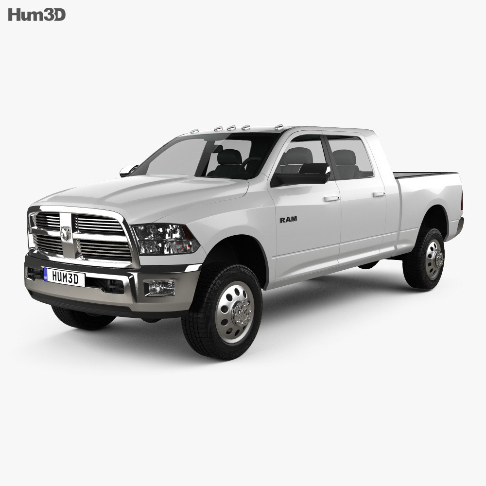 Dodge Ram 2500 Mega Cab Big Horn 6-foot 4-inch Box 2012 3d model