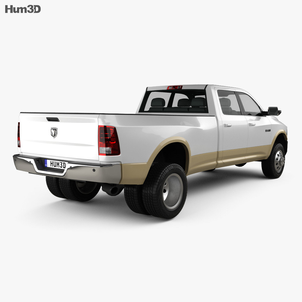 Dodge Ram 3500 Crew Cab Dually Laramie 8-foot Box 2012 3d model