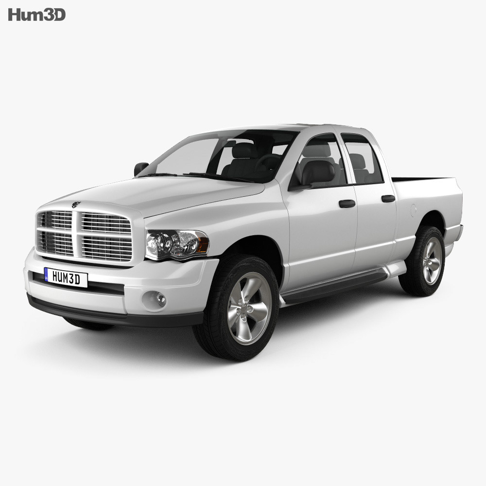 dodge ram 1500 quad cab slt 2002 3d model humster3d. Black Bedroom Furniture Sets. Home Design Ideas