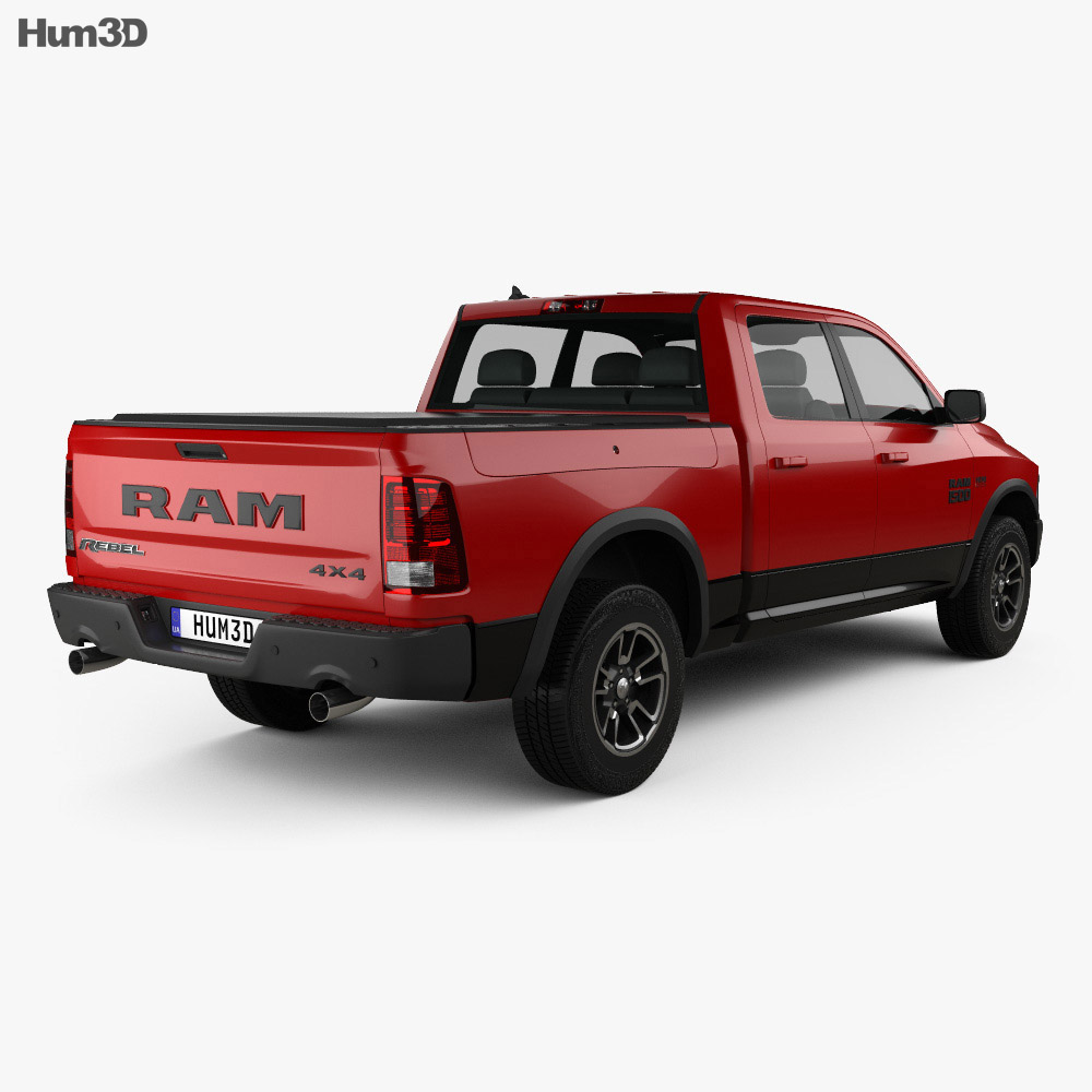dodge ram 1500 rebel 2015 3d model hum3d. Black Bedroom Furniture Sets. Home Design Ideas