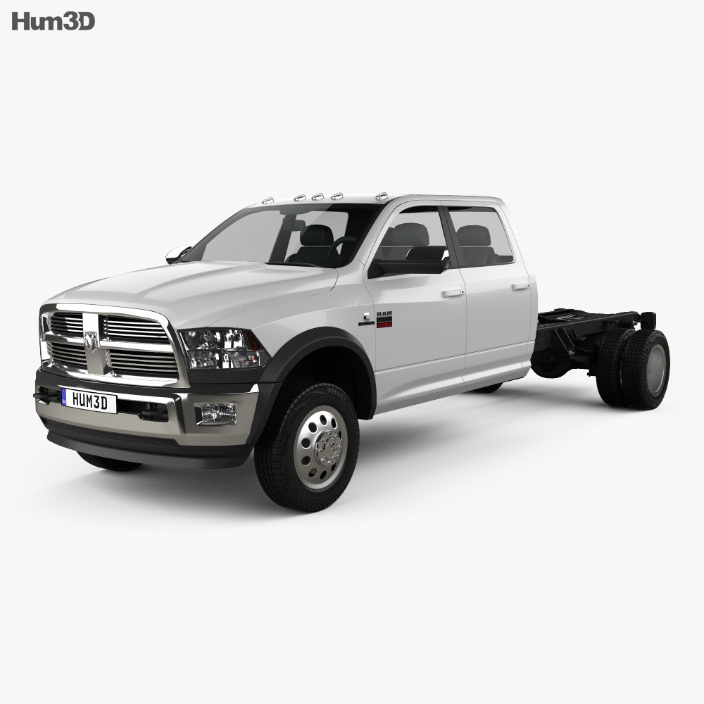 dodge ram crew cab chassis l2 laramie 2012 3d model hum3d. Black Bedroom Furniture Sets. Home Design Ideas