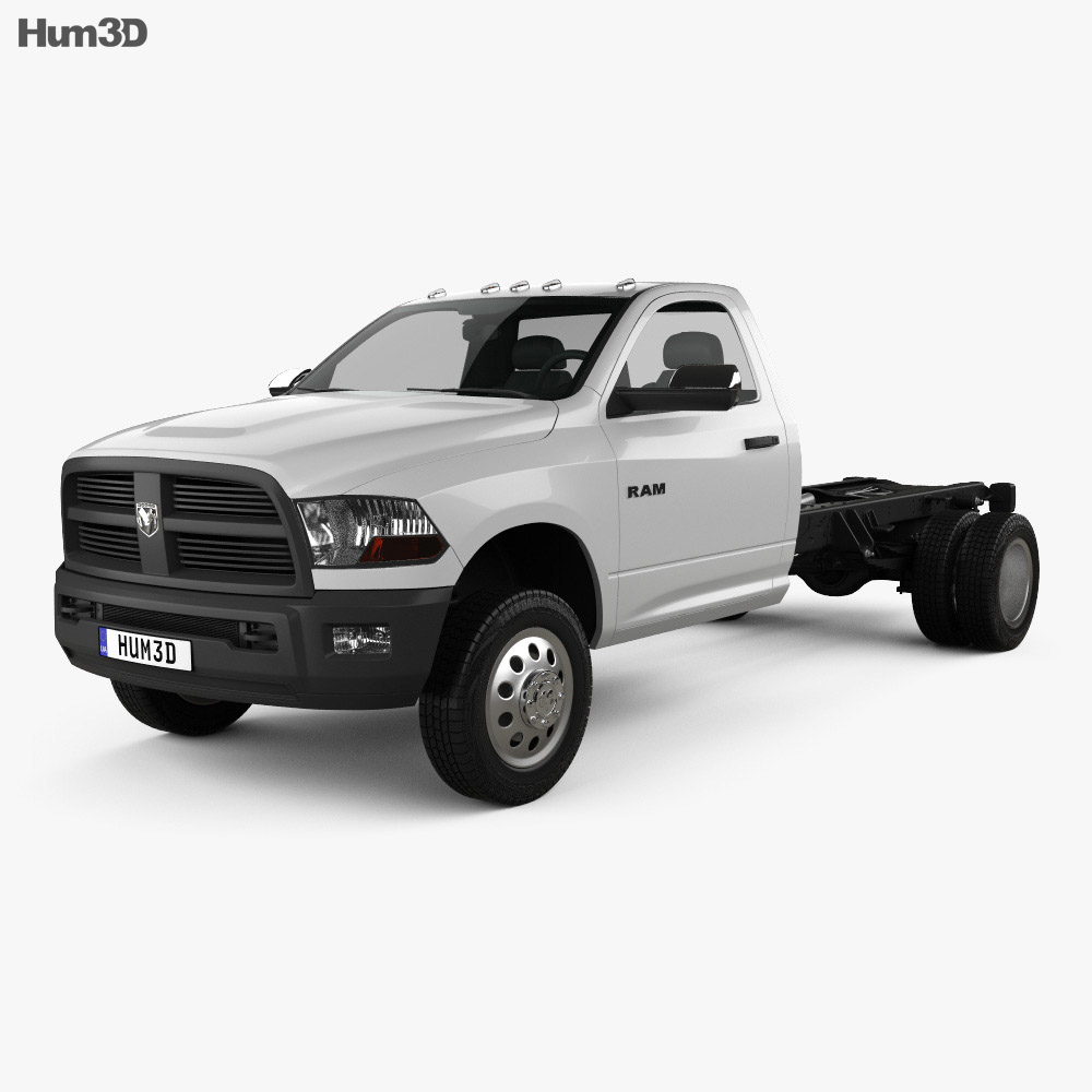 dodge ram regular cab chassis 2012 3d model hum3d. Black Bedroom Furniture Sets. Home Design Ideas