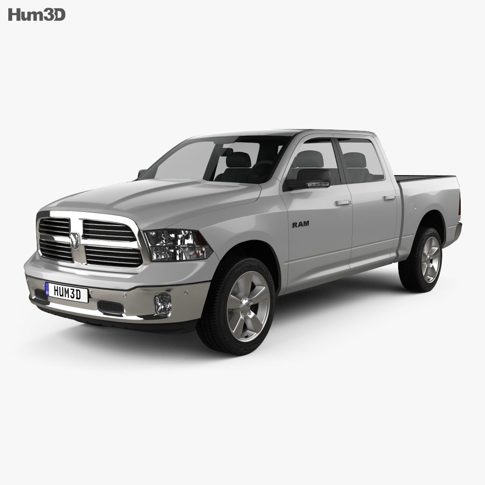 2017 Dodge Ram 1500 >> Dodge Ram 1500 Crew Cab Big Horn 2017 3d Model
