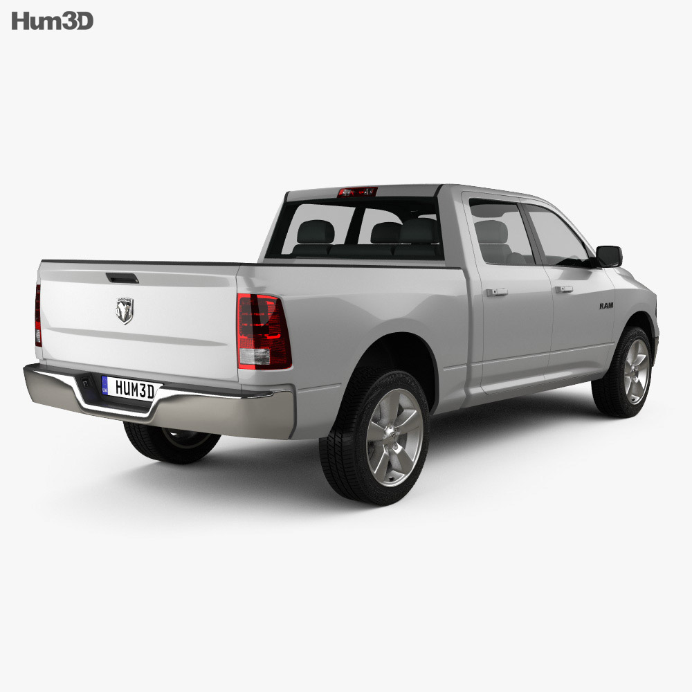 Dodge Ram 1500 Crew Cab Big Horn 2017 3d model