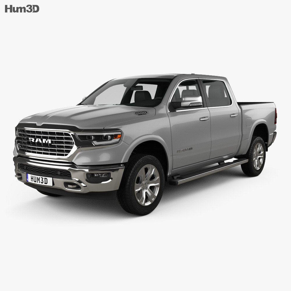 Dodge Ram 1500 Crew Cab Laramie Longhorn 5-foot 7-inch Box 2019 3d model