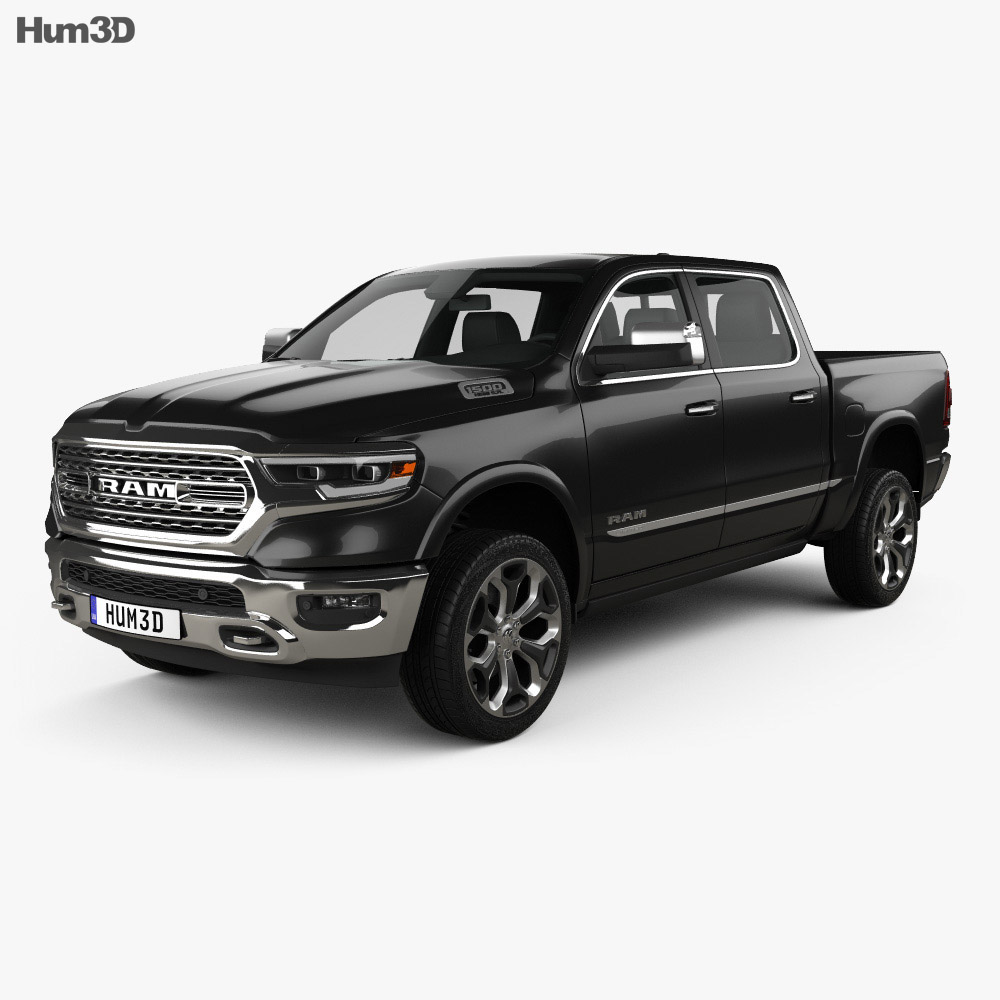 Dodge Ram 1500 Crew Cab Limited 5-foot 7-inch Box 2019 3d model