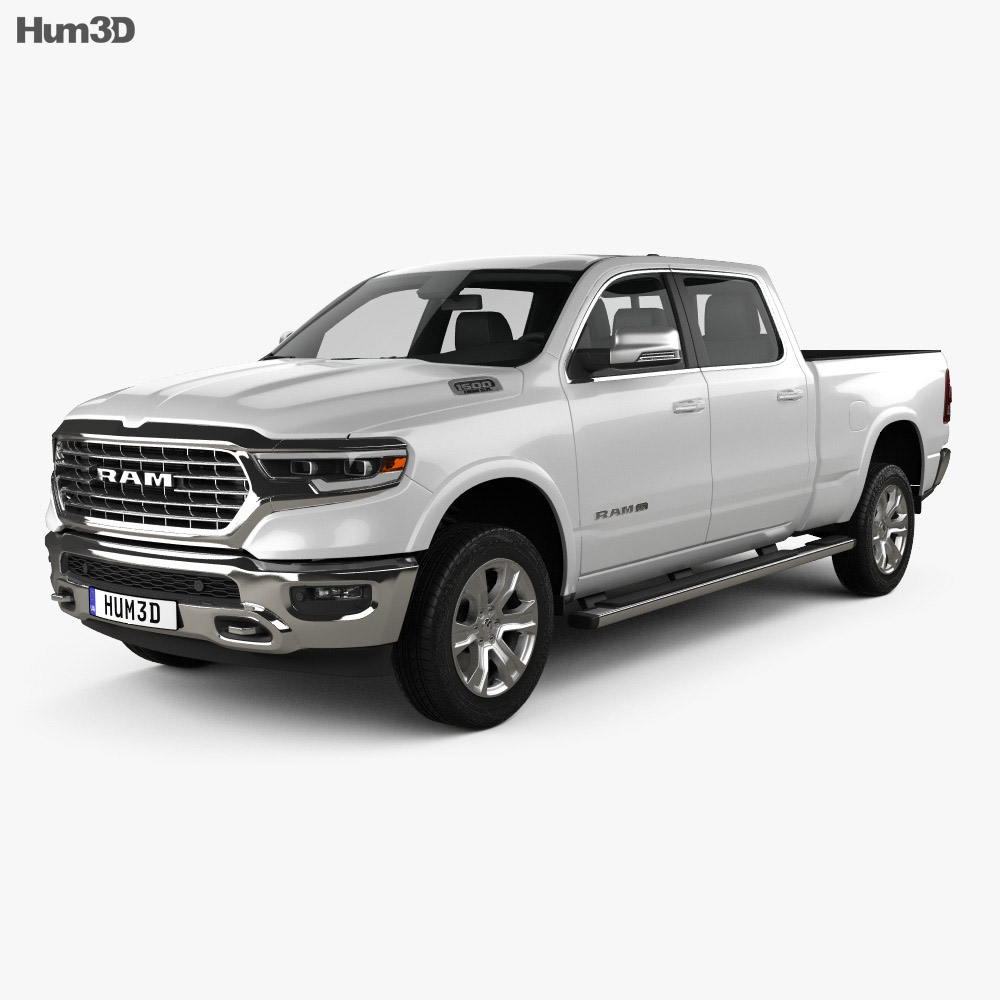 dodge ram 1500 crew cab laramie longhorn 6 foot 4 inch box 2019 3d model hum3d. Black Bedroom Furniture Sets. Home Design Ideas