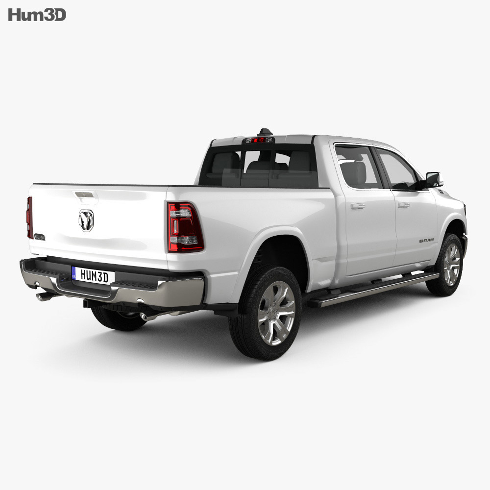 Dodge Ram 1500 Crew Cab Laramie Longhorn 6-foot 4-inch Box 2019 3d model