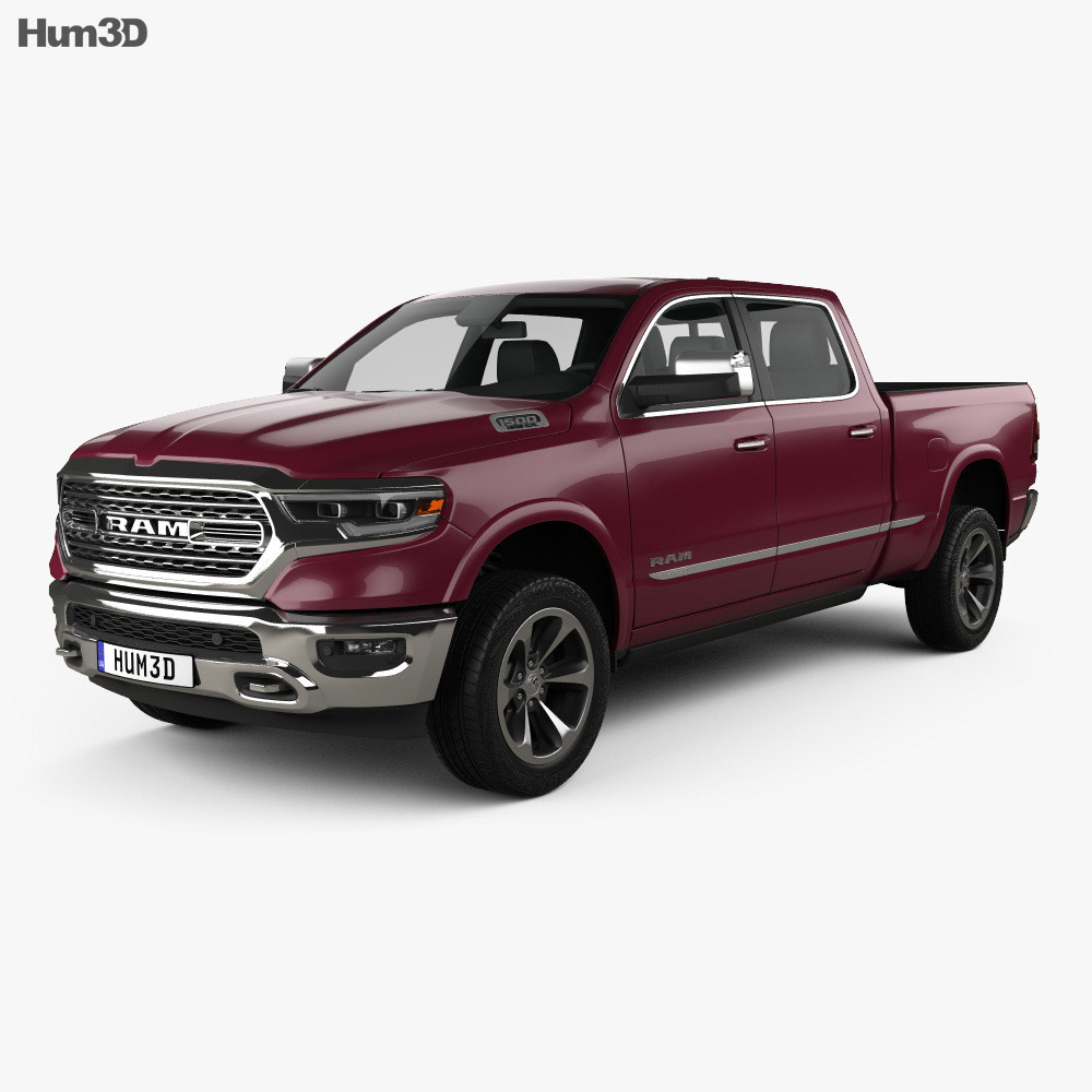 dodge ram 1500 crew cab 6 foot 4 inch box limited 2019 3d model hum3d. Black Bedroom Furniture Sets. Home Design Ideas
