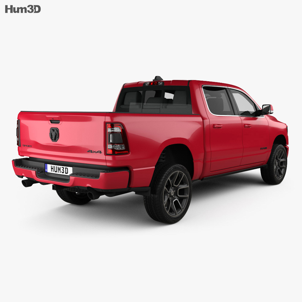 Dodge Ram 1500 Crew Cab Sport 5-foot 7-inch Box 2019 3d model